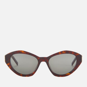 Saint Laurent Women's Cat Eye Acetate Sunglasses - Havana/Grey
