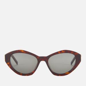 Saint Laurent Women's Cat Eye Acetate Sunglasses - Havana/Grey