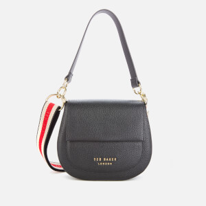 Ted Baker Women's Amali Branded Webbing Strap Cross Body Bag - Black