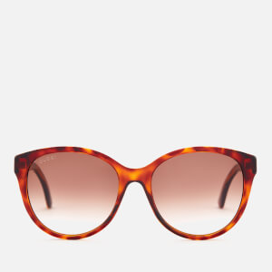 Gucci Women's Oversized Acetate Frame Sunglasses - Havana/Brown