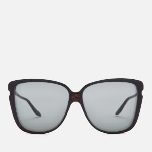 Gucci Women's Oversized Acetate Sunglasses - Black/Grey