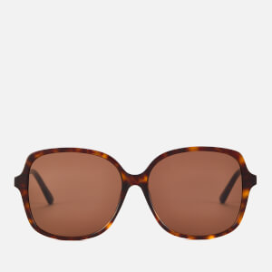 Bottega Veneta Women's Oversized Square Frame Sunglasses - Havana/Brown