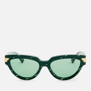 Bottega Veneta Women's Cat Eye Acetate Sunglasses - Green