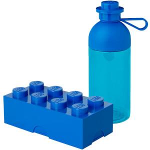 LEGO Storage Blue Lunch Set Bundle (Includes 1 Lunchbox and 1 Hydration Bottle)