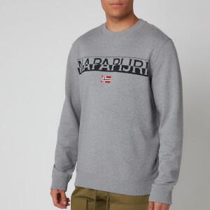 Napapijri Men's Baras C Sweatshirt - Medium Grey Melange