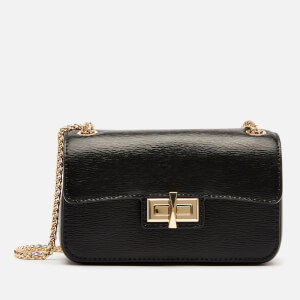 DKNY Women's Jojo Small Flap Cross Body Bag - Black/Gold