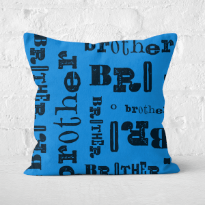 Vintage Brother Pattern Square Cushion
