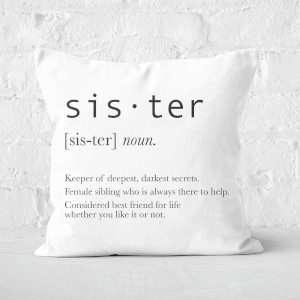 Sister Definition Square Cushion