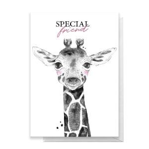 Special Friend Giraffe Greetings Card