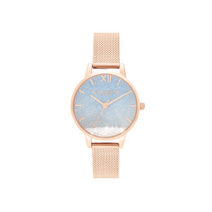 Olivia Burton Women's Under the Sea Wishing Wave Watch - Rose Gold