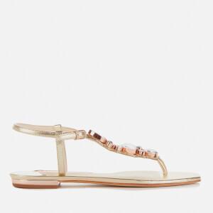 Sophia Webster Women's Ritzy Flat Sandals - Champagne