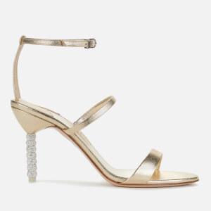 Sophia Webster Women's Rosalind Crystal Mid Heeled Sandals - Champagne