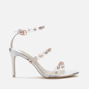 Sophia Webster Women's Rosalind Gem Mid Heeled Sandals - Silver/Crystal