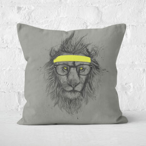 Hipster Lion Cushion Square Cushion