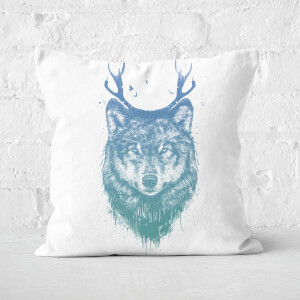 Deer Wolf Cushion Square Cushion