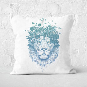 Floral Lion Cushion Square Cushion