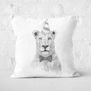 Get The Party Started Black & White Cushion Square Cushion