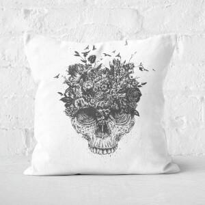My Head Is A Jungle Black And White Cushion Square Cushion