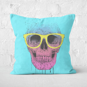 Pop Art Skull With Glasses Cushion Square Cushion