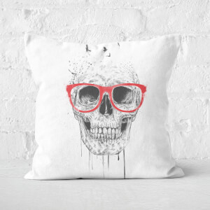 Skull With Red Glasses Cushion Square Cushion