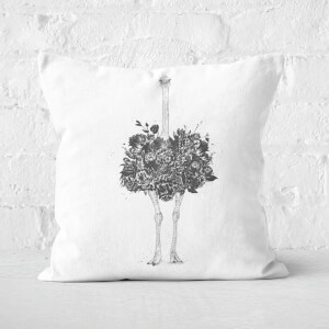 Floral Ostrich Cushion Square Cushion