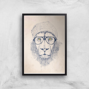 Cool Lion Print Giclee Art Print