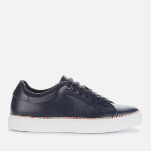Paul Smith Men's Basso Leather Cupsole Trainers - Dark Navy/Multi Piping