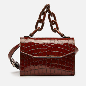 Ganni Women's Croc Waist Bag - Toffee