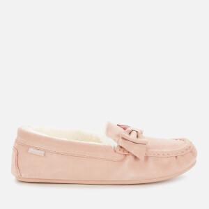 Barbour Women's Sadie Suede Mocassin Slippers - Pink Suede