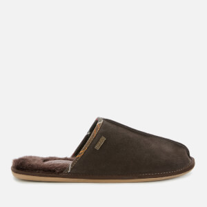 Barbour Men's Malone Suede Slippers - Brown Suede