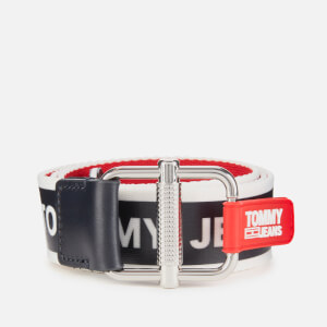 Tommy Jeans Women's Logo Tape Reversible Belt - Corp Mix