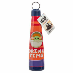 Star Wars Mandalorian: The Child: Metal Water Bottle: Drink Time