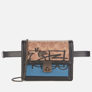 Coach 1941 Women's Signature Horse and Carriage 3 by Guang Yu Hutton Belt Bag - Tan Lake Multi