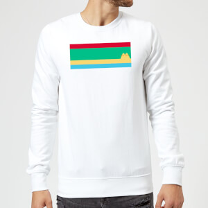 Pusheen Stripe Chest Print Sweatshirt - White