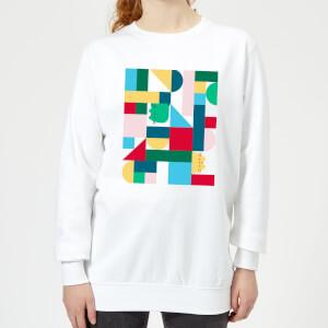 Pusheen Geometric Women's Sweatshirt - White