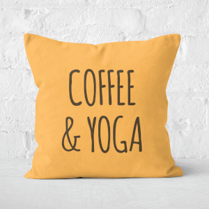 Coffee And Yoga Square Cushion