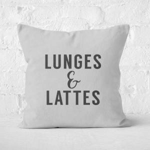 Lunges And Lattes Square Cushion