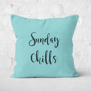 Sunday Chills Square Cushion