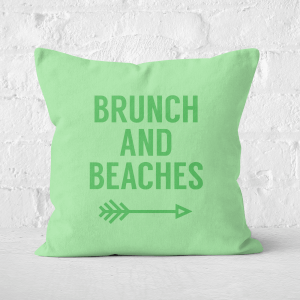 Brunch And Beaches Square Cushion