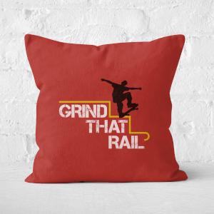 Grind That Rail Square Cushion