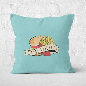 Fast Food Friends Square Cushion