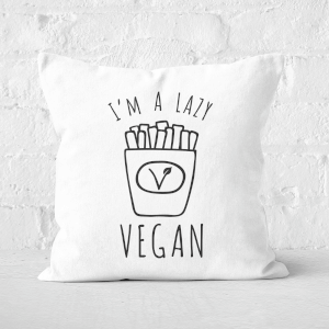 Lazy Vegan Square Cushion