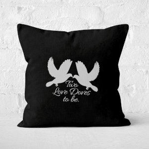 Two Love Doves Square Cushion