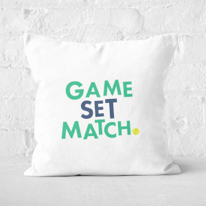 Game Set Match Square Cushion