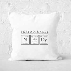 Periodically Nerdy Square Cushion