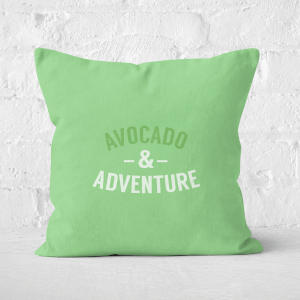 Avocado And Adventure Square Cushion