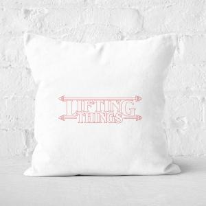 Lifting Things Square Cushion