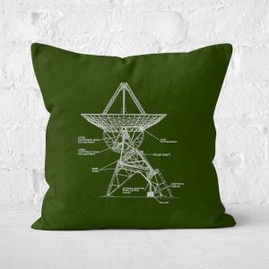 Satellite Schematic Square Cushion