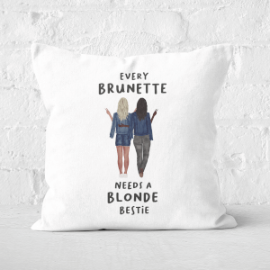 Pressed Flowers Every Brunette Needs A Blonde Bestie Square Cushion