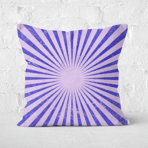 Pressed Flowers Circus Beams Purple Square Cushion